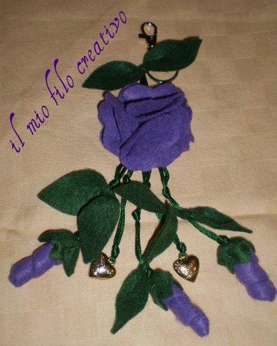 """portachiavi """"fiore"""""""