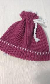 cappello maglia bimba lana