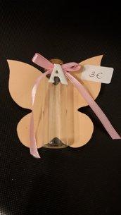 Bomboniera farfalla e boccetta di vetro
