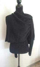 poncho mantella donna lana maglia