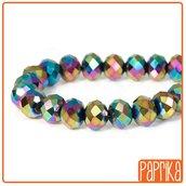 10 Perline Sfaccettate Electroplate 8x10mm
