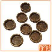 2 Perline bronzo con base cameo 12mm