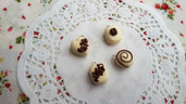 Lotto cioccolatini al latte 4 pezzi ciondolo con gancino pendente materiale creativo decoden
