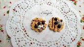 Cialda tonda more panna ciondolo pendente materiale creativo per bigiotteria bijoux bomboniere decoden