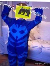 Costume di carnevale super pigiamini nuovo, fatto a mano su misura età 6 anni