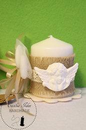 Bomboniera candela con angelo