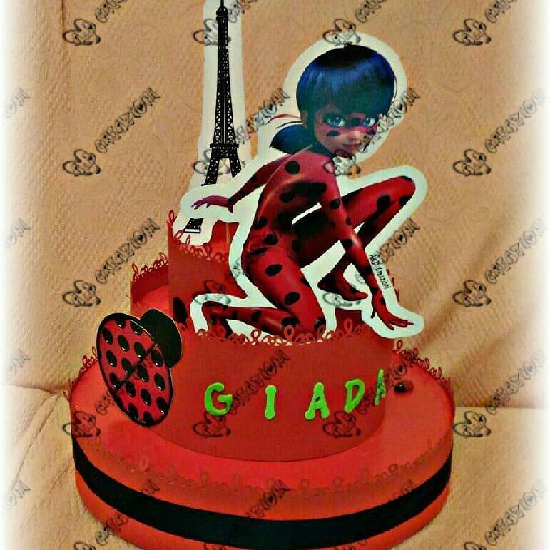ladybug torta finta feste decorazioni di