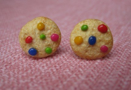 orecchini COOKIE e SMARTIES in cernit