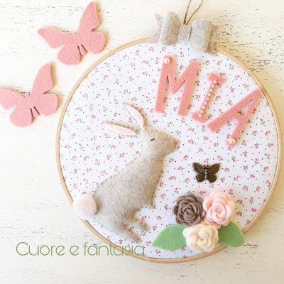 Fiocco nascita coniglietto