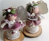 Cartamodello Lilla e Lolly, le farfalline portaoggetti