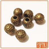 7 Perline Tonde in metallo Bronzo 10mm