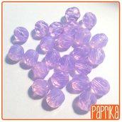 24 Perline Mezzo Cristallo Sfaccettate 8mm