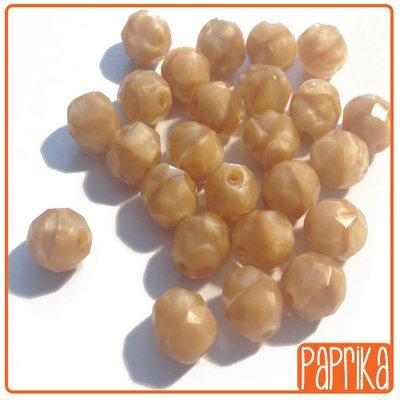 25 Perline Mezzo Cristallo Sfaccettate 8mm