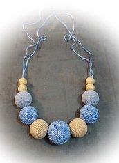 Collana per l'allattamento azzurra