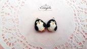 Pinguino ciondolo fimo pasta polimerica bomboniere materiale per creare bigiotteria bijoux gioielli