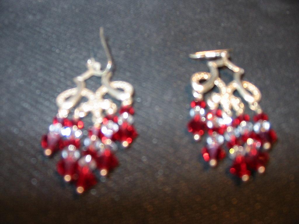 """orecchini """"oriental red"""""""