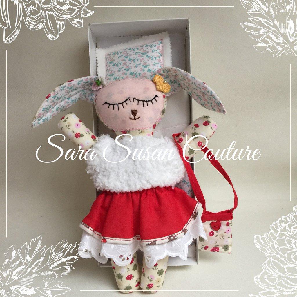 Bambola di pezza fiammiferina  - 30cm - Sara Susan Couture