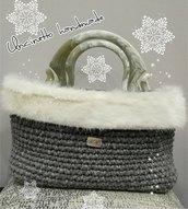 Borsa uncinetto cordino molto elegante idea regalo bag shopping fatto a mano