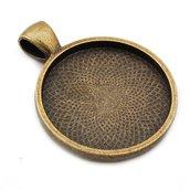 Base per cammeo o cabochon 25mm bronzo