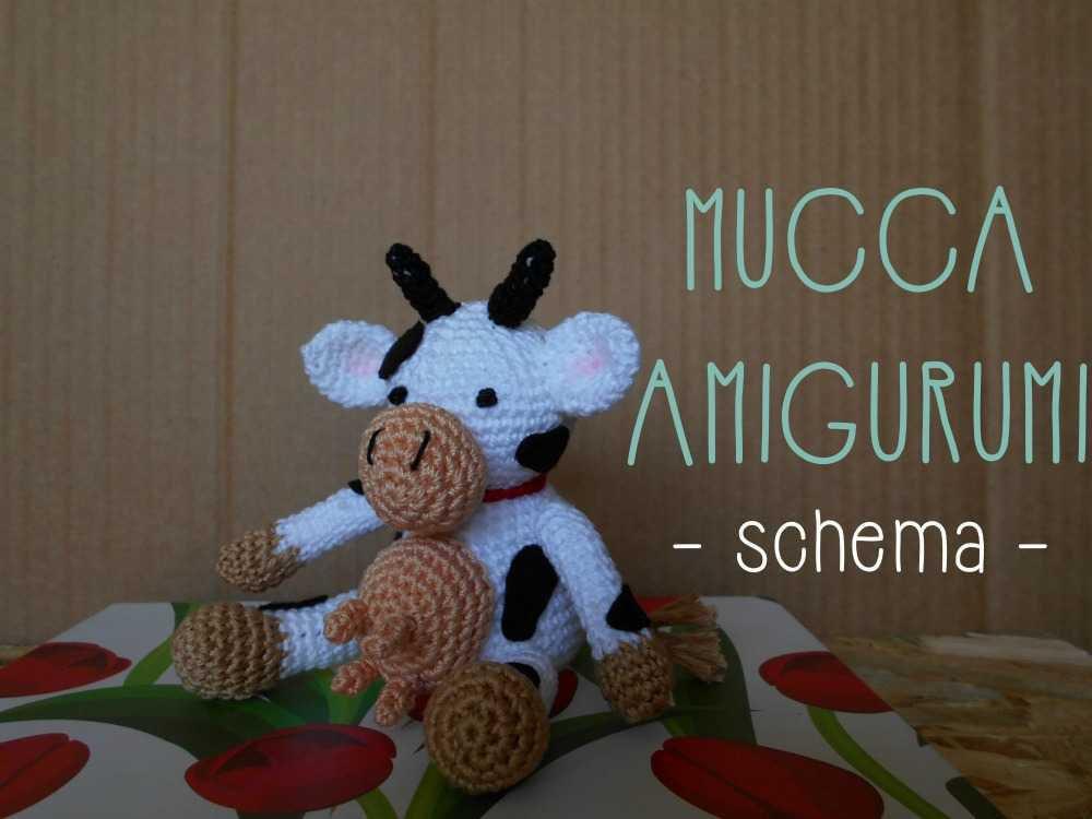 Schema della mucca amigurumi • File pdf