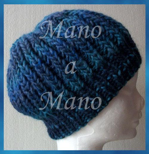 Cuffia morbida - Blu e azzurro