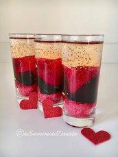 San Valentino bicchiere rosa rossa in gel