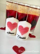 candele personalizzate san valentino