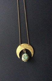 Collana luna con Prehnite