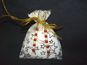 Orecchini rossi e bianchi + confezione + omaggio, idea regalo San valentino
