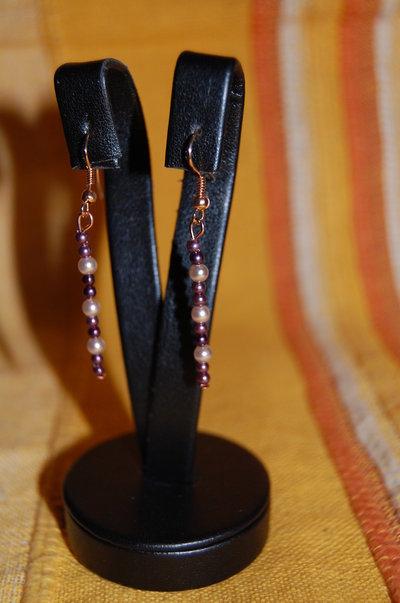 orecchini perline