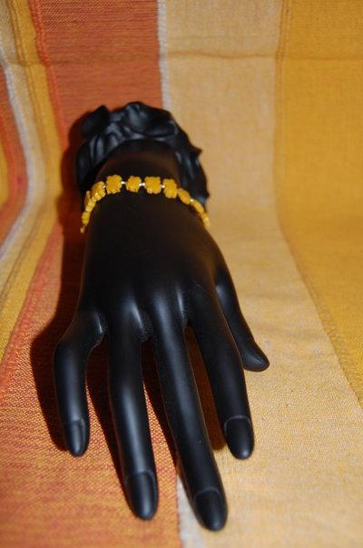 orecchini e bracciale fimo giallo