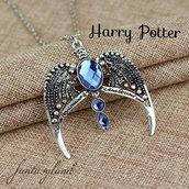 Collana con diadema corvonero harry potter hogwarts doni della morte