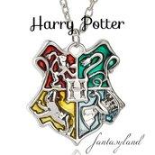 Ciondolo stemma hogwarts harry potter grifondoro tassorosso serpeverde corvonero collana