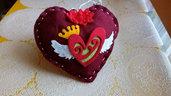 San Valentino cuore idea regalo rosso fatto a mano