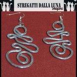 orecchin in  alluminio wire