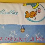 Porta pannolino porta salviette per neonato - Portapannolini - Ricamato con nome da borsa