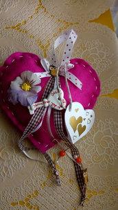 San Valentino idea regalo cuore  pannolenci chiave fiore gufo fiocco amore