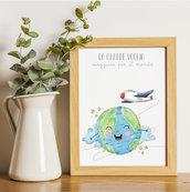 DA GRANDE VOGLIO... Quadro per bambini / nursery art / stampa e download digitale/ regalo battesimo, compleanno, cameretta