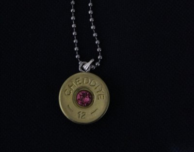Collana cal 12 con swarovski pink