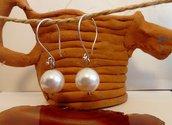 Orecchini in argento 925 e perla Swarovski White