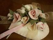 Bomboniera cuore e rose
