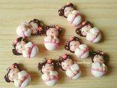 Bomboniera kokeshi, ciondolo giapponesina, bomboniera nascita, battesimo kokeshi, bomboniera comunione, compleanno giappone