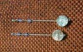 Orecchini Argento 925 -  giada viola e perla di Cristallo di Rocca