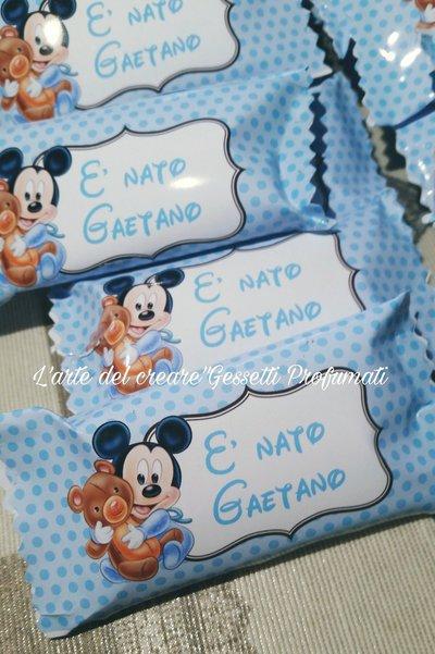 60 bustine portaconfetti personalizzate caramelle + 25 spiedini Marsh mallow