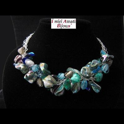 Collana perle in formazione, perle indiane