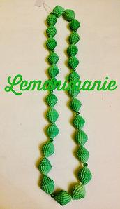 #collana #carta #verde #swarovsky