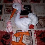 Cicogna nascita fiocco