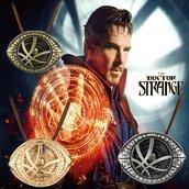 Ciondolo Doctor Strange occhio di Agamotto collana bronzo antico