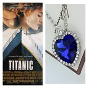 Ciondolo Titanic cuore dell'oceano blu Di Caprio film oscar Rose