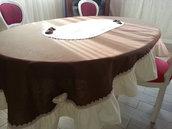 4 posti Tappeto tavolo  fatto a mano